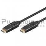 ΚΑΛΩΔΙΟ 1.4v HDMI  ΑΡΣΕΝΙΚΟ - HDMI ΑΡΣΕΝΙΚΟ 1.0m  ETHERNET ±90℃