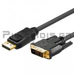 ΚΑΛΩΔΙΟ Display Port αρσενικό - DVI-D(24+1)  αρσενικό  1.0m