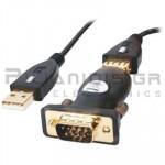 ΚΑΛΩΔΙΟ USB Α ΑΡΣΕΝΙΚΟ -  D-Sub 9pin  ΑΡΣΕΝΙΚΟ (RS232) 0.5m