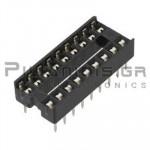 IC socket 18-pin  7,62mm