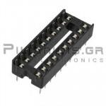 IC socket 20-pin  7,62mm