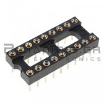 IC socket 18-pin βάση ακριβείας  7,62mm