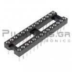 IC Socket 28-pin βάση ακριβείας  7,62mm