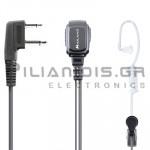 Μικρόφωνο πέτου + Ακουστικό ρυθμιζόμενο PTT/VOX (2pin Standard L)
