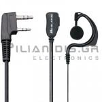 Μικρόφωνο πέτου + Ακουστικό ρυθμιζόμενο PTT (2pin Kenwood L)