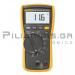 Multimeter Digital True-RMS (600V AC/DC) & Temp 400°C