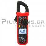 Clamp meter Digital AC (600VDC / 600VAC & 600A AC) + Capacitance, Ω