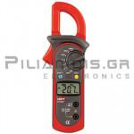 Clamp meter Digital AC (600VDC / 600VAC & 600A AC) + Ω