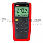 Digital Thermometer (with 2 x Input: Type J, K, T, E) -200℃C / +1372℃C