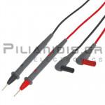 Ακροδέκτες Πολυμέτρου 2mm | 60Vdc |  Κόκκινο - Μαύρο | 0.8m