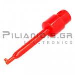 Αρπάγη Mini Καλωδίου 58mm | 3A/60Vdc | Aνοιγμα: 1.6mm | Κόκκινη