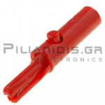 Crocodile Clip 4mm | 3A/60Vdc | Open : 2.5mm | Red