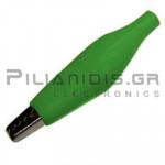Crocodile clip 42mm | 3A | for Cable | Green