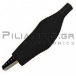 Crocodile clip 44.5mm | 5A | for Cable | Black