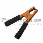 Crocodile clip 135mm | 200A | Brass | for Cable | Black