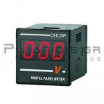 ΒΟΛΤΟΜΕΤΡΟ ΨΗΦΙΑΚΟ 48x48mm DC (0-600V) Vin:12-24V