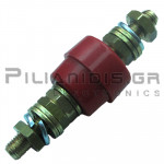 Banana Socket Power | 63A | 1000V | Brass - Copper | M6 | Red