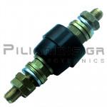 Banana Socket Power | Ø/(9.4)mm | 63A | 1000V | Brass - Copper | M6 | Black