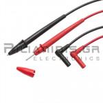 Test Leads 2mm | 600V - 10A | CATIII 1000V CATIV 600V | PVC | Red - Black | 1.2m