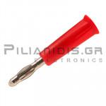 Banana 4mm | Plug | 36A | 30VAC - 60Vdc | Solder | Ni Brass | Red