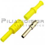 Banana 4mm | Jack | 36A | 1000V CATIII | Screw | Ni Brass | Yellow