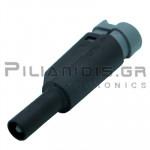 Banana 4mm | Stackable Plug | 36A | 1000V CATIII | Screw | Ni Brass | Black