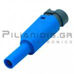 Banana 4mm | Stackable Plug | 36A | 1000V CATIII | Screw | Ni Brass | Blue