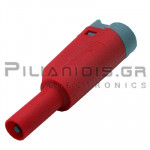 Banana 4mm | Stackable Plug | 36A | 1000V CATIII | Screw | Ni Brass | Red