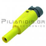 Banana 4mm | Stackable Plug | 36A | 1000V CATIII | Screw | Ni Brass | Yellow