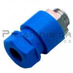 Banana Socket 4mm | 36A | 30VAC - 60Vdc | Ni Brass | Blue