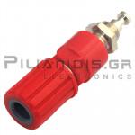 Banana Socket 4mm | 36A | 30VAC - 60Vdc | Ni Brass | Red