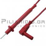 Ακροδέκτης Πολυμέτρου 1.0mm²| PVC | 2mm | Σύνδεση: 4mm Αρσενικό Γωνία | 20A | 1000V CATII | 1m