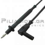 Ακροδέκτης Πολυμέτρου 1.0mm²| PVC | 4mm | Σύνδεση: 4mm Αρσενικό Γωνία | 20A | 1000V CATII | 1m