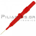 Adaptor | Μπανάνα 4mm Θηλυκή - Βελόνα Ø0.6x13.3mm | 80.5mm | 1A | 600V CATII | Κόκκινη