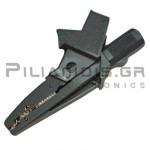 Adaptor | Μπανάνα 4mm Θηλυκή - Κροκόδειλος Ø13mm | 91mm | 20A | 600V CATIV / 1000V CATIII | Γκρί