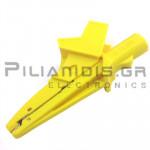 Adaptor | Μπανάνα 4mm Θηλυκή - Κροκόδειλος Ø13mm | 91mm | 20A | 600V CATIV / 1000V CATIII | Κίτρινο