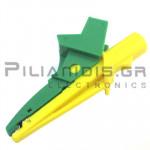 Adaptor | Μπανάνα 4mm Θηλυκή - Κροκόδειλος Ø13mm | 91mm | 20A | 600V CATIV / 1000V CATIII | Κίτ/Πρασ