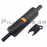Adaptor 4mm Αρσενικό - Θηλυκό | Ασφαλειοθήκη 10x38mm | 20A | 500VAC CATIII | Μαύρο