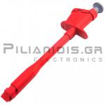 Ακροδέκτης Λαβίδα 152mm | με Βελόνα | 4mm Θηλυκό | 6A | 30VAC - 60Vdc | Κόκκινο