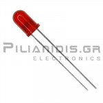 LED 5mm Red diffused 3800 - 6100mcd 30℃  1.6V to 2.5V
