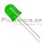 LED 10mm Green  Super Bright L-813GD