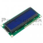 LCD Alphanumeric Module 16x2; STN Negative; Blue 66x16mm