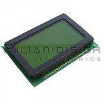 LCD-Graphic display 128x64; STN Positive yellow-green 60x32,6mm