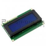 LCD Alphanumeric Module 20x4; STN Negative blue 77x22.5mm
