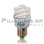 Lamp Ε27 T2 Slim 12VDC  9W 6500Κ 450lm Spiral