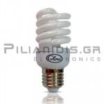 Lamp Ε27 T2 Slim 12VDC 15W 6500Κ 660lm Spiral