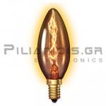 Λάμπα Κερί Goldline Ε14 240V 25W 110Lm B35