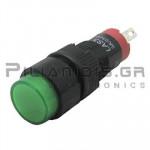 Ενδεικτική λυχνία LED Ø10mm 12VAC/DC πράσινη με FASTON