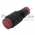 Ενδεικτική λυχνία LED Ø10mm 230Vac κόκκινο με FASTON