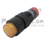Ενδεικτική λυχνία LED Ø10mm 230Vac κίτρινη με FASTON